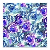Blue And Purple Roses Shower Curtain> Blue And Purple Roses> Flowersforyou