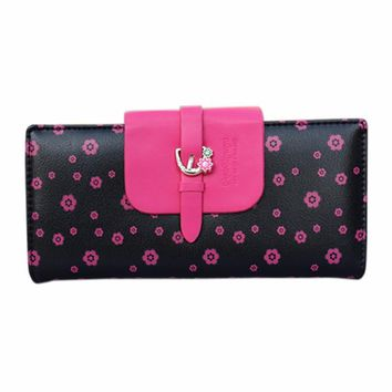 Handbags Women Purse Girl Leather Wallet Long Card Holder Cute Gift Floral Handbag sacoche homme