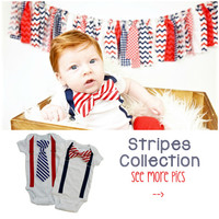 Infant 4th of July Outfit. 4th of July Newborn. Baby Boy 4th of July Outfit. Stripes Striped Red Navy. 4th of July Outfits for Boys. July 4