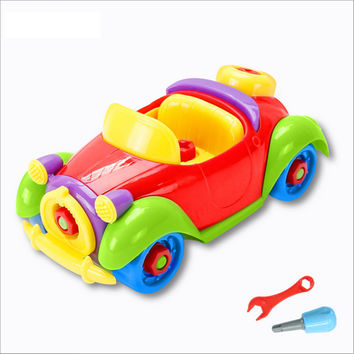 Nut Toy Car Assemble And Disassembly Toy Car Children Educational Toys  Birthday Gifts For Kids Parent-child Hands-on Ability