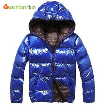 ACTIONCLUB Hooded Fashion Winter Jacket  For Men Casual Winter Outwear Comfortable&High Quality Jacket Wram Thick Jackets