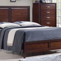 Merlot Finish King Bed - Grand Home Furnishings | K6877