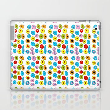 multicolor 3 polka dot-polka dot,pattern,dot,polka,circle,disc,point,abstract,kitsch Laptop & iPad Skin by oldking
