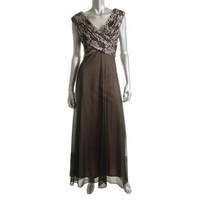 Patra Womens Pleated Lined Formal Dress