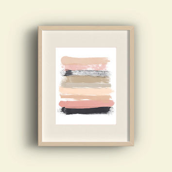 Colorful Pink Modern Art, 8x10 Inch, Printable, Instant Download, Dorm, Home, Apartment, Wall Art, Office Art,  Pink Abstract