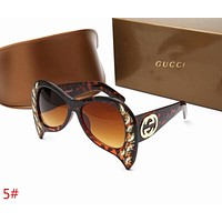 GUCCI Popular Women Men Personality Summer Style Sun Shades Eyeglasses Glasses Sunglasses(5-Color) 5# I-ZXJ
