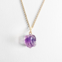 Rough Amethyst Solitaire Mother's Day Exclusive