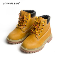CCTWINS KIDS spring autumn winter children boots kids warm shoes fur girls Rome brown boots baby leather shoes toddler brand
