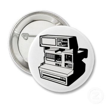 Retro Polaroid Camera Pinback Button from Zazzle.com