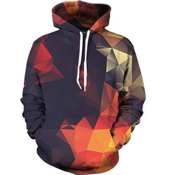 Abstract Glow Hoodie