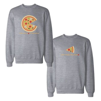 I Like You More Than Pizza Couple Sweatshirts Matching Sweat Shirts