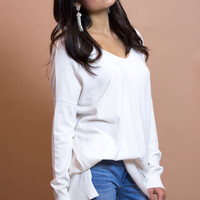 York White Knit Top