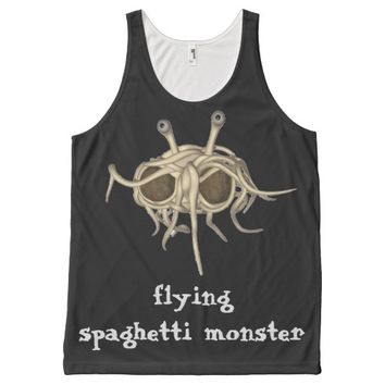 flying spaghetti monster All-Over print tank top