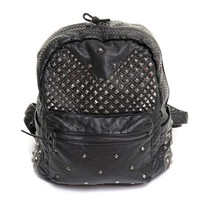 Black Gothic Backpack with Studs | Crazyinlove International