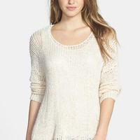 Women's Fever Woven Back High-Low Sweater