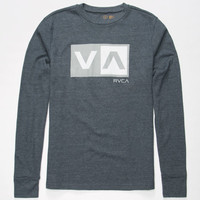 Rvca Balance Box Mens Thermal Heather Navy  In Sizes