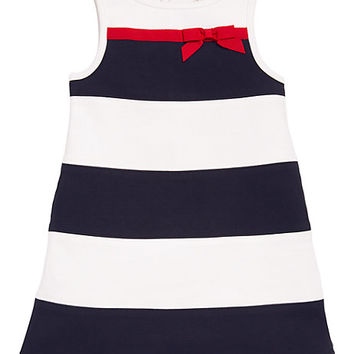 Kate Spade Toddlers' Stripe Dress Rich Navy/ Fresh White