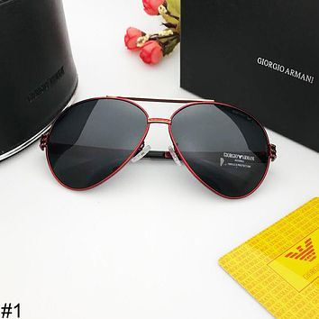 Giorgio Armani trend men and women fashion versatile driving retro polarized sunglasses #1