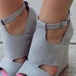 About a Girl Wedge - Light Grey