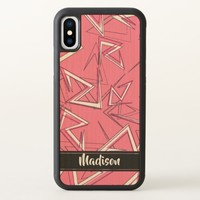 White and Black Zigzags on Pink iPhone X Case