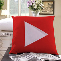 youtube icon full colour Square Pillow Case Custom Zippered Pillow Case one side and two side