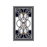 Art Deco Beardsley Black & Cream 0419x  Mrs Butler Switchplate  (Choose size/price from dropdown)