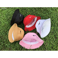 NIKE classic big hook embroidery summer sunscreen couple casual fisherman hat F-AG-CLWM