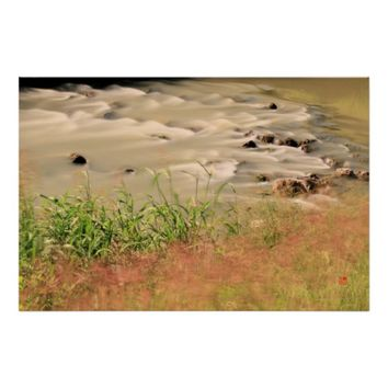 Autumn Serenity Silky River Custom Inspiration Poster