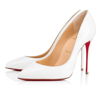 Christian Louboutin Cl Pigalle Follies Latte Patent Leather 14w Bridal 3140495wha8 -