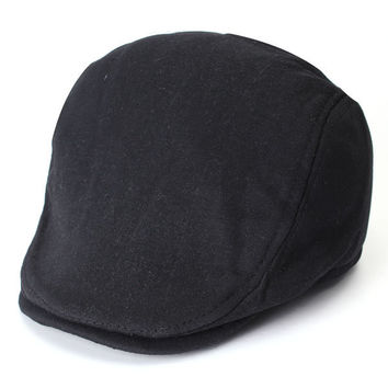 7df6181c568 Men Women Vintage Newsboy Cabbie Gatsby Hat Men Flat Cap Cotton Golf Driving  Beret Hat