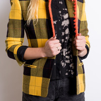 Black and Yellow Plaid Blazer | Vincent Reeve Clothing