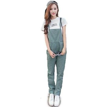 Women Bib Overall Casual Jumpsuits Suspender Trousers Pants Black Army Green Dungarees