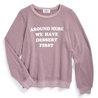 Girl's Wildfox 'Around Here - Baggy Beach Jumper' Sweatshirt