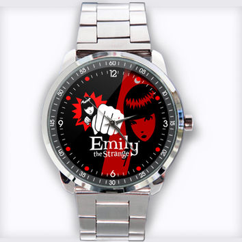 Emily The Strange Custom Stainless Steel Watch