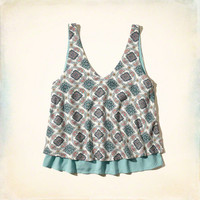 Printed Two-Tier Cami