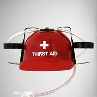 'Thirst Aid' Drink Helmet