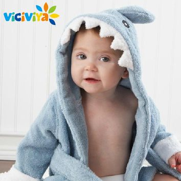 10 Designs, Cute Cartoon Animal Modeling Baby Hooded Bathrobes 100% Cotton Towel