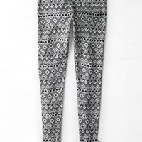 AEO Women's Hi-rise Printed Legging (True Black)