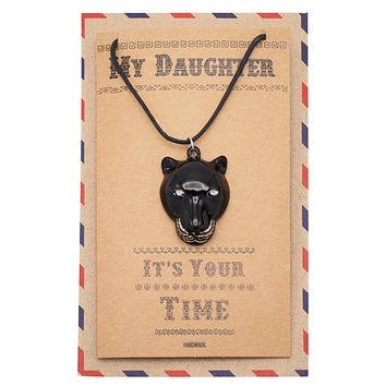 Marielle Black Panther Inspired Necklace, Gifts for Her with Greeting Card