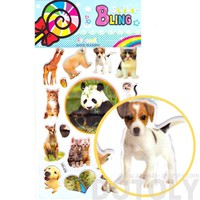 Realistic Mixed Animal Panda Cat Giraffe Dog Photo Stickers for Scrapbooking and Decorating