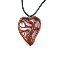 Wooden Pendant, Tree of Life Necklace, Carved Tree Pendant, Tree of Life Pendant, Hand Carved Pendant, Wood Jewelry, Wooden Tree Pendant