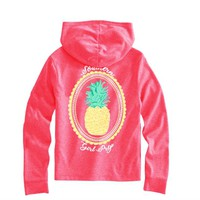 Youth Southern Girl Prep Pineapple Long Sleeve Hoodie