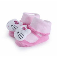 0-10M Baby Toy Soft Cute Animal Doll Cotton Socks Toy Antislipping Socks