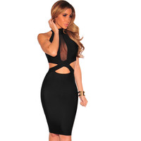 Dress Sexy Sheath Knee Length Midi Dress Clubwear Women Dresses
