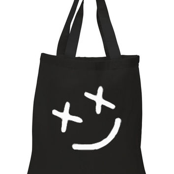 "Louis Tomlinson ""Smiley Face"" Tattoo 100% Cotton Tote Bag"