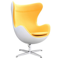 Fiesta Fiberglass Chair In Wool, Yellow