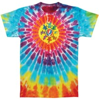 Grateful Dead Men's  Circle Bears Tie Dye T-shirt Multi