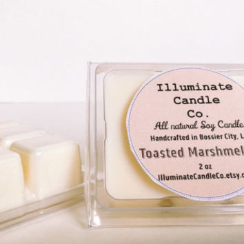 Toasted Marshmallow Soy wax melt, Organic Wax Melt, Wax Tarts, Wax Melt, Soy Wax, Clamshell Melts, Candle melt, Wax warmer
