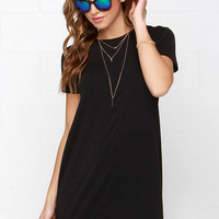 Chesapeake Basic Black Shirt Dress