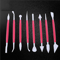8pcs Cake Decorating Supplies Sculpture Carve Pen Bake Baking Craft Tools Set HU